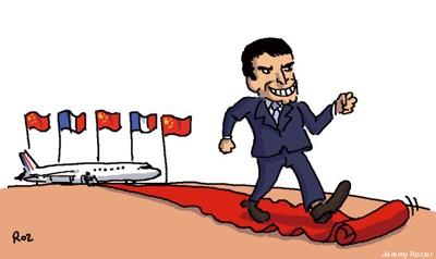 Manuel Valls en Chine par Roz