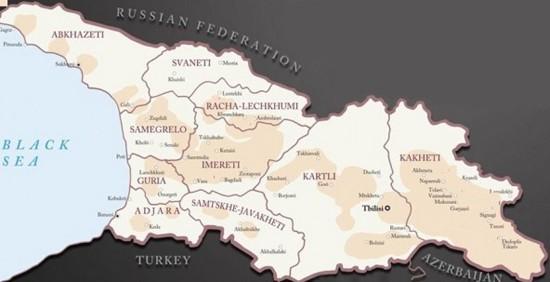 Géorgie-carte (c) Saveurs de la Géorgie-Lemaire