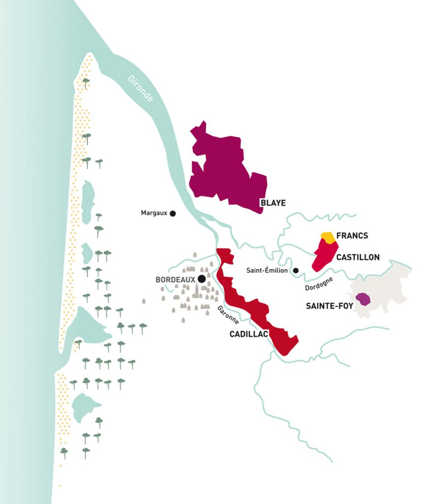 Cotes-bordeaux-appellations-carte-lemaire-hebdo-vin-chine