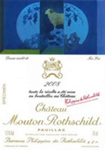Etiquette-mouton-rothschild-2008-Xu-Lei-lemaire-hebdo-vin-chine