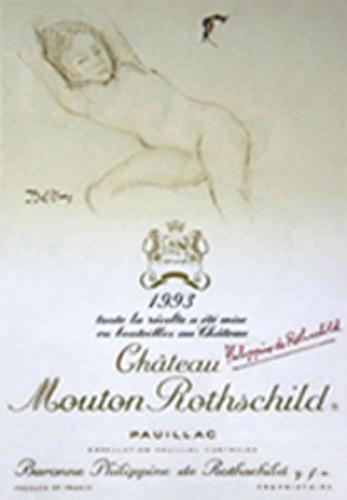 etiquette-mouton-rothschild-1993-Balthus-lemaire-hebdo-vin-chine