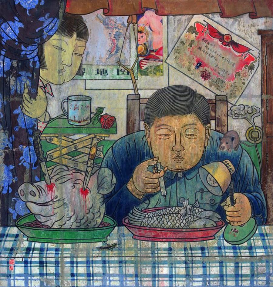 He-Jian-peintre-dejeuner-lemaire-hebdo-vin-chine