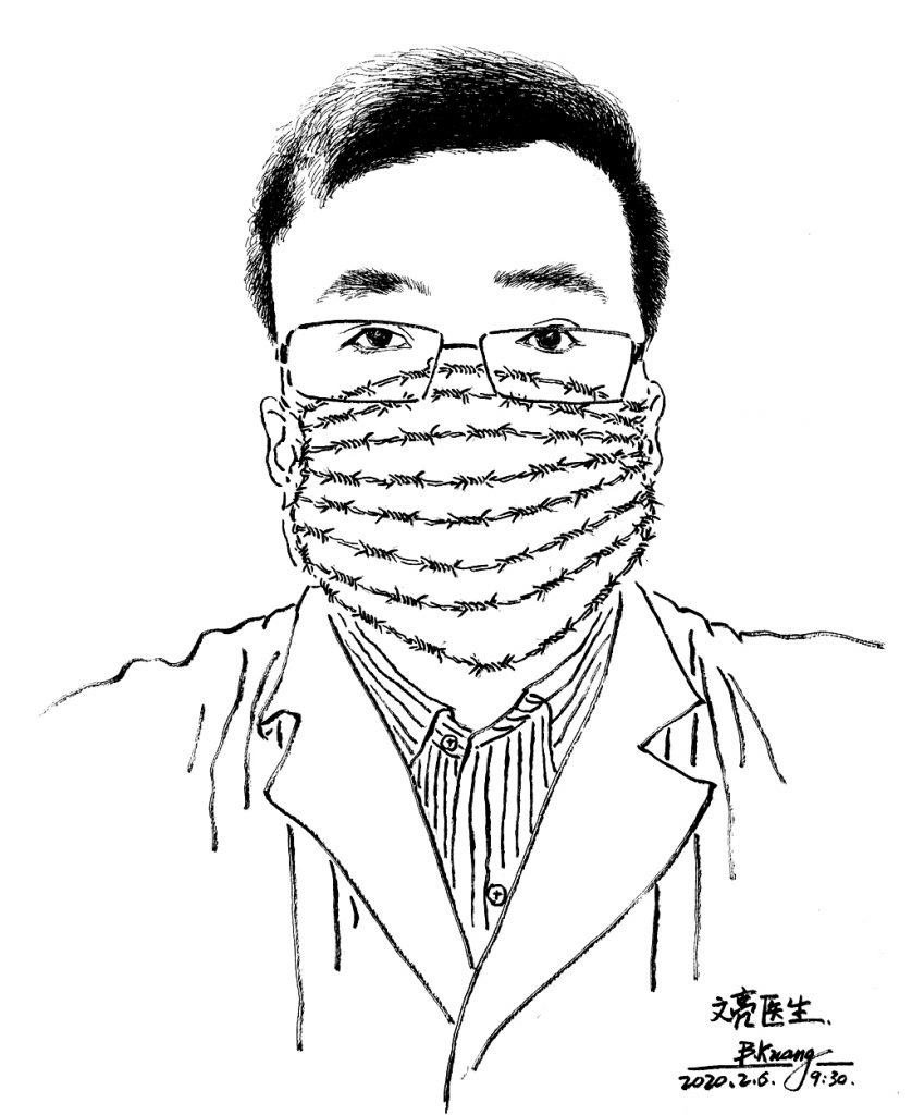 Li-Wenliang-covid-dessin-Patrick-Chappatte-lemaire-hebdo-vin-chine