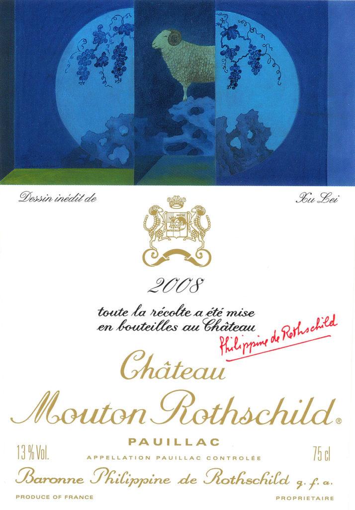 mouton-rothschild-2008-Xu-lei-etiquette-entiere-lemaire-hebdo-vin-chine