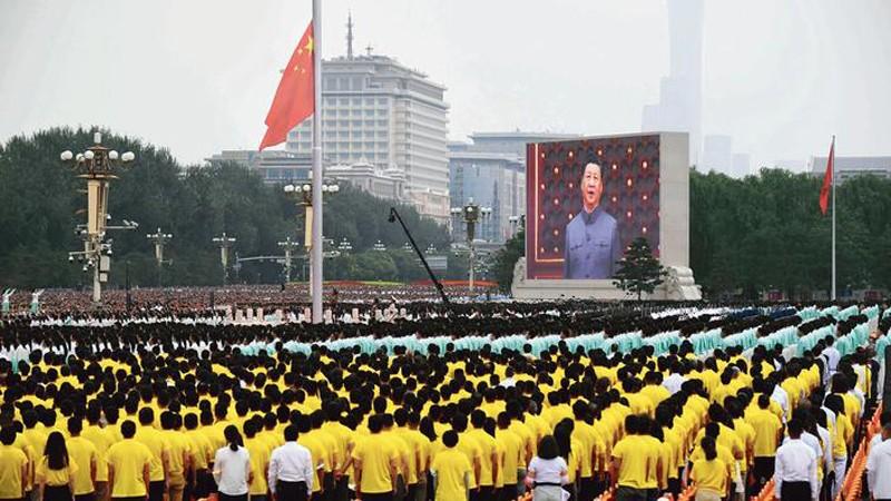 Xi-Jinping-Tiananmen-centenaire-PCC-Lemaire-hebdo-vin-chine